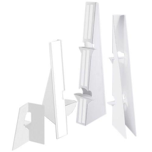"12"" White Self-Stick Easel Back [Single-Wing] (25 Pk) Image 1"