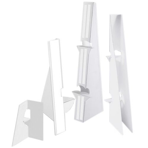"7"" White Self-Stick Easel Back [Double-Wing] (Case of 250) Image 1"