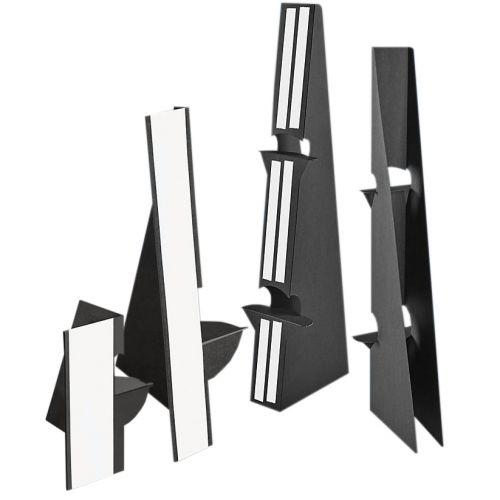 "3"" Black Self-Stick Easel Back [Single-Wing] (Case of 500) Image 1"