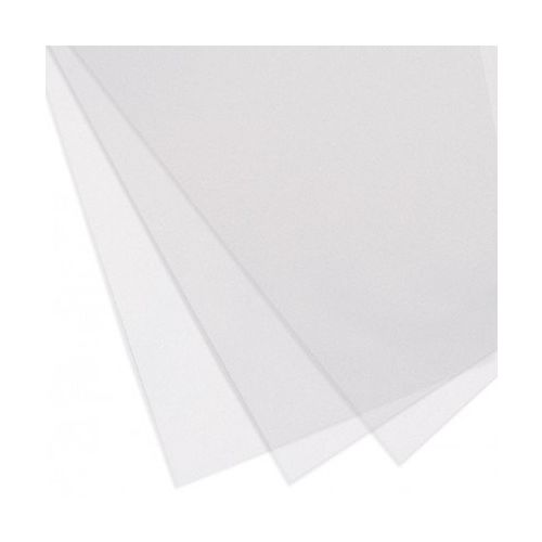 "Clear Matte/Suede Covers [8-1/2"" x 11"" with Square Corners, 10 Mil, Unpunched, No Tissue] (100 / Box) Image 1"