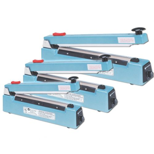 "8"" Hand Impulse Sealer [with Cutter, 10mm Seal] Image 1"