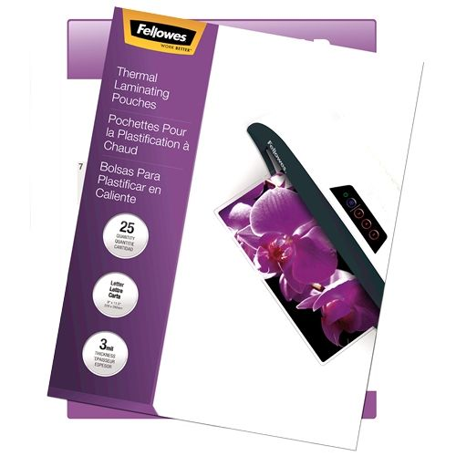 Fellowes ImageLast Jame-Free 3mil Letter Size Laminating Pouches - Pack of 25 Image 1