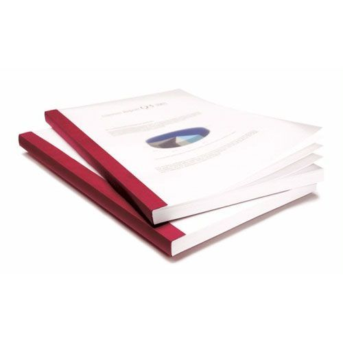 "1 ¼"" Coverbind® Clear Linen Thermal Binding Covers [Burgundy] (30 / Box) Item#08CB114BURG"