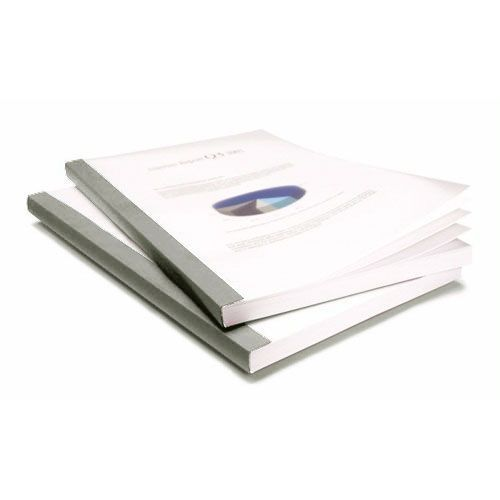 "1/2"" Coverbind Clear Linen Thermal Binding Covers [Gray] (60 / Box) Image 1"