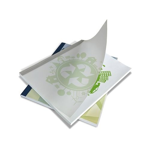 """1/16"""" White Coverbindco Linen Thermal Binding Covers (100/Bx) Image 1"""