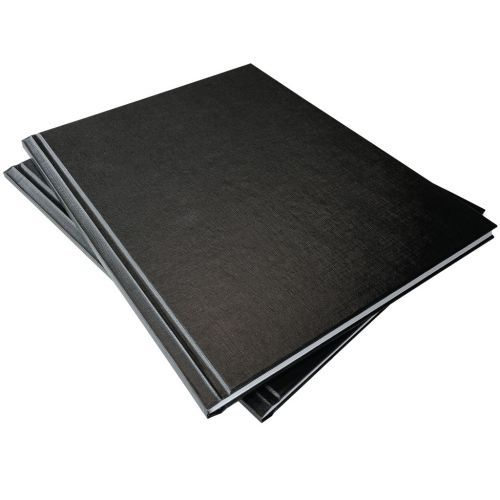 "1/2"" Coverbind® Standard Hardcover Thermal Binding Covers [Black] (8 / Box) Item#08CBHC12BK"