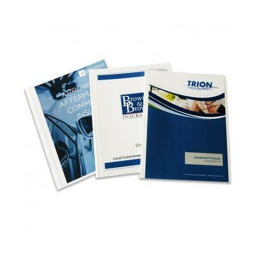 "1/8"" Coverbind® Print On-Demand Covers [White] (90 / Box) Item#08CBPOD18WG"