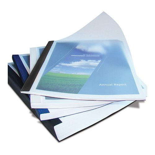 White Clear Linen Coverbind Thermal Binding Covers [Large Assorted Pack] (200 / Box) Item#08CBVARCWHITE