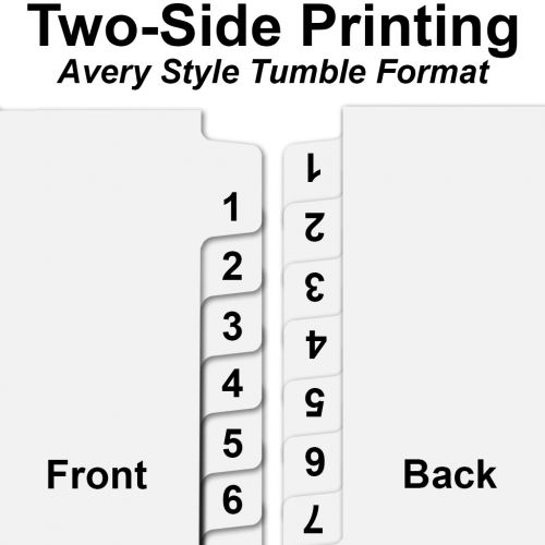 """""""301"""" to """"325"""" Avery Style Number Tabs [Side Tabs, Letter Size] (25/bag)"""