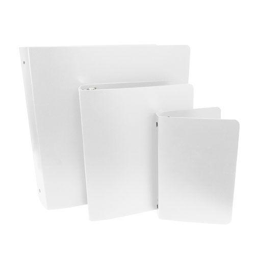 """1-1/2"""" White Letter Size Poly Binders [23 Gauge] (100/Lt) Image 1"""