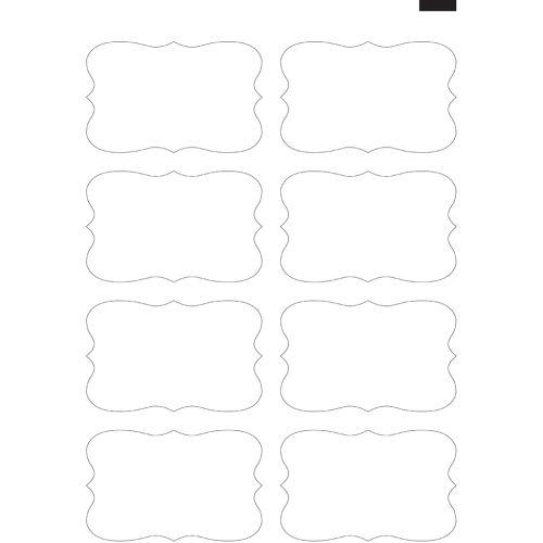 "4.75"" x 3"" Kiss-Cut Bracket Labels (11"" x 17"" Sheet, 8-Up) Dyna-Cut Flexible Rotary Die"