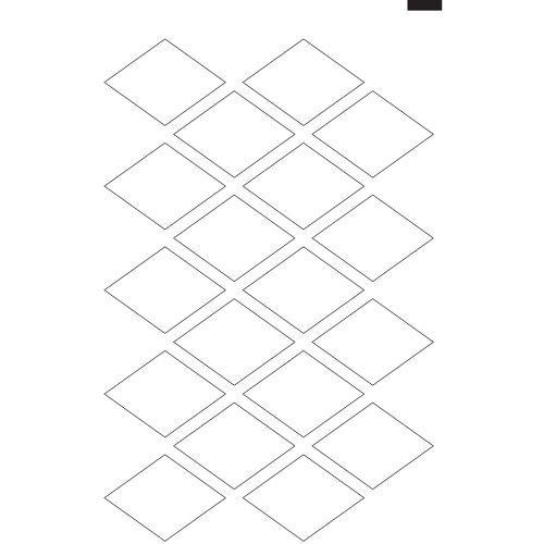 "3.5"" x 2.75"" Kiss-Cut Diamond Labels/Stickers (11"" x 17"" Sheet, 20-Up) Dyna-Cut Flexible Rotary Die"