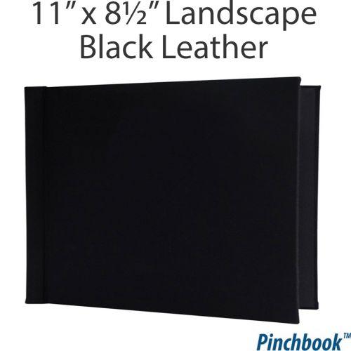 """8 ½"""" H x 11"""" W Black Leather Pinchbook™ Photo Books [No Window] (5/bx) Item#858511BLKLTHLNW"""