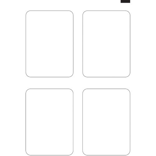 "5"" x 7"" Round Corner Invitation (12"" x 18"" Sheet, 4-Up) Dyna-Cut Flexible Rotary Die"