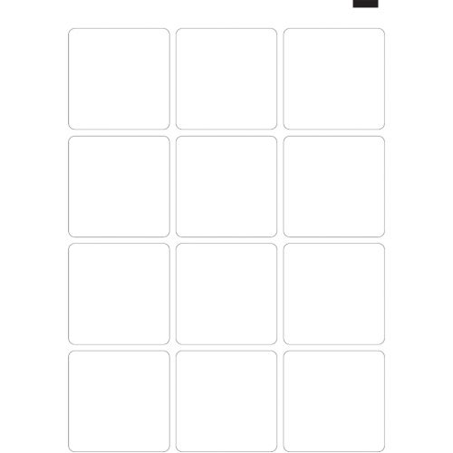 "4"" x 4"" Coaster (13"" x 19"" Sheet, 12-Up) Dyna-Cut Flexible Rotary Die"