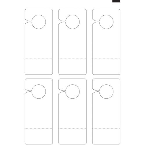 """8.25"""" x 3.5"""" Door Hanger with Perforated Coupon (13"""" x 19"""" Sheet, 6-Up) Dyna-Cut Flexible Rotary Die"""