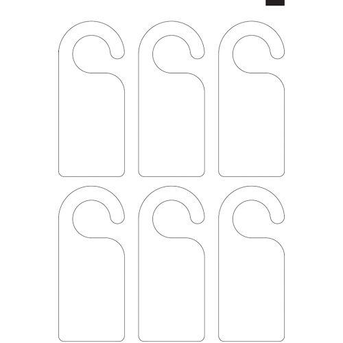 "8.25"" x 3"" Round Hook Door Hanger (13"" x 19"" Sheet, 6-Up) Dyna-Cut Flexible Rotary Die"