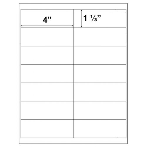 "4"" x 1 ⅓"" Peel-&-Stick Printable 14-Up Labels (Pack of 100) (Discontinued)"