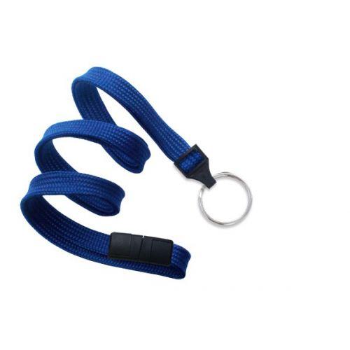 Royal Blue Lanyard With Split Ring [Breakaway] (100/Bx)