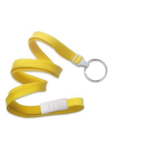 Yellow Lanyard With Split Ring [Break-Away] (100/Bx)