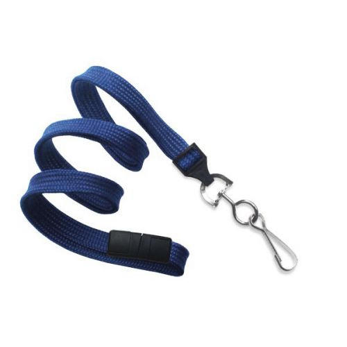 Navy Lanyard With Swivel Hook [Break-Away] (100/Bx)