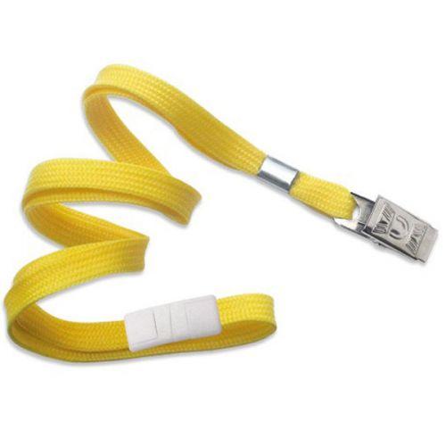 Yellow Lanyard With Bull Dog Clip [Break-Away] (100/Bx)