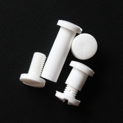 "1"" White Snap-Lock Plastic Screw Posts (100 Sets/Pk) Image 1"