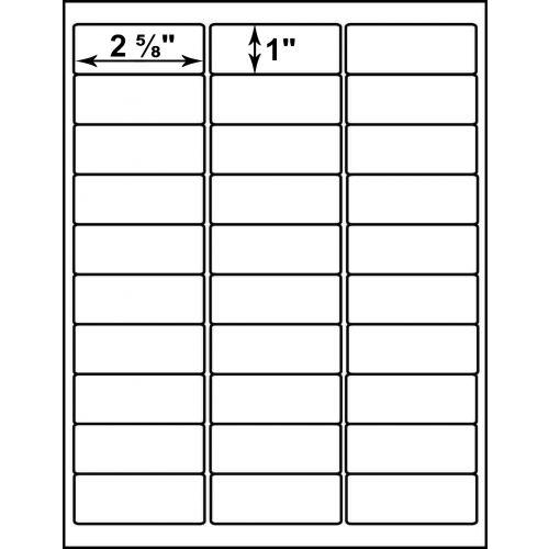 "4-1/4"" x 5-1/2"" Peel-&-Stick Printable 4-Up Labels (Pack of 100) Item#22COPY04LA"