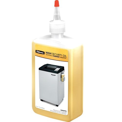 Fellowes Shredder Oil 12oz Bottle for High Security Shredders - 3505701 Image 1