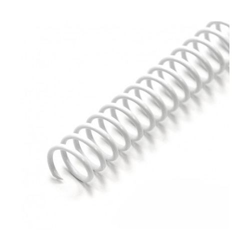 "4:1 White 12"" Spiral Plastic Coils Image 1"
