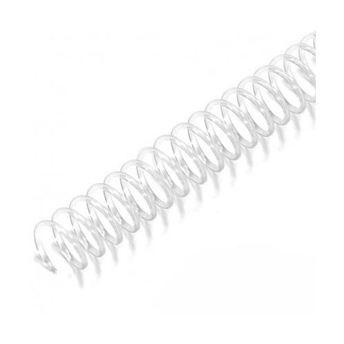 """4:1 Clear 12"""" Spiral Plastic Coils Image 1"""