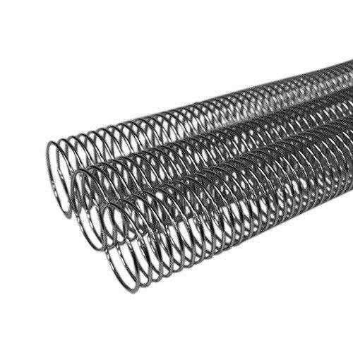 "1"" Silver Aluminum 4:1 Metal Spiral Binding Coil - 100pk Image 1"