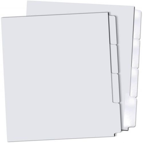 4rd Cut Reverse Collated Copier Tabs