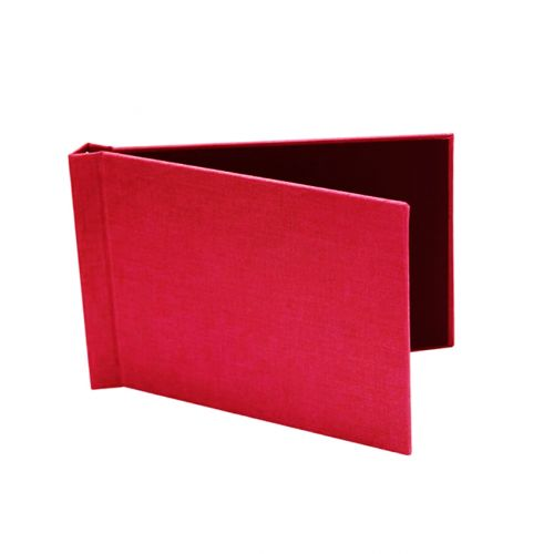 "5"" x 7"" Red Cloth Pinchbook Hard Cover Photo Books (10 Pack)"