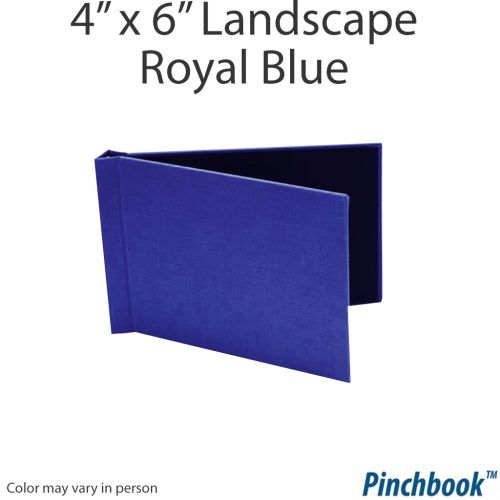 "4"" H x 6"" W Royal Blue Cloth Pinchbook Photo Books [No Window] (10/bx) (Discontinued)"
