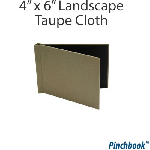 """Buy 4"""" x 6"""" Taupe Cloth Pinchbook DIY Photo Books Online"""