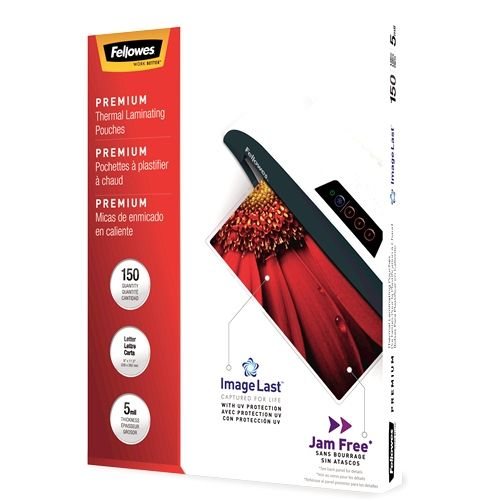 Fellowes ImageLast Jame-Free 5mil Letter Size Laminating Pouches - Pack of 150 Image 1