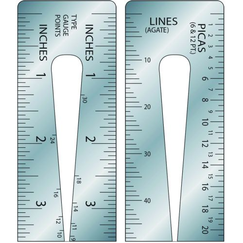"""Style 604 24"""" Gaebel Ruler [Inches & Pica / Pica & Agate]"""
