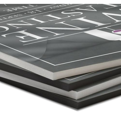 Black Foam Core Pouch Boards with Thermal Adhesive