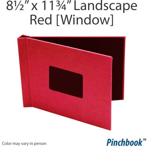 "8 ½"" H x 11 ¾"" W Red Pinchbook™ Photo Books [With Window] (5/bx) Item#85851175RDCLL"