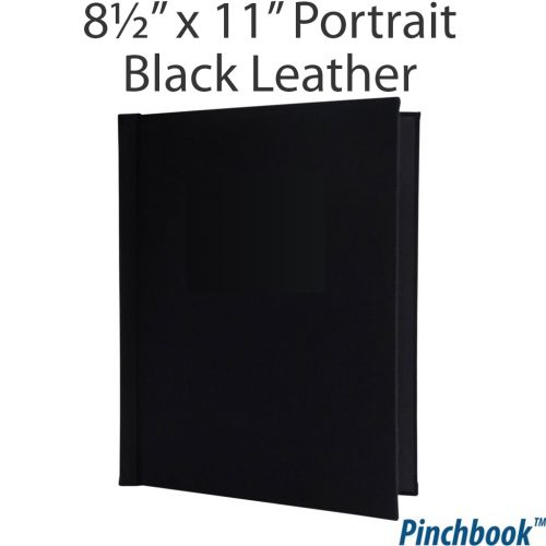"11"" H x 8 ½"" W Black Leather Pinchbook™ Photo Books [No Window] (5/bx) Item#858511BLKLTHPNW"