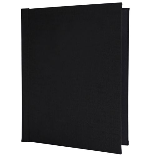 "Black Linen Cloth 11-3/4"" H x 8-1/2"" W Portrait Pinchbook™ Hardcovers (5 Pack)"