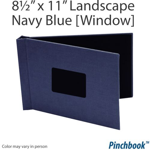 "8 ½"" H x 11"" W Navy Cloth Pinchbook™ Photo Books [With Window] (5/bx) Item#858511NVCLL"