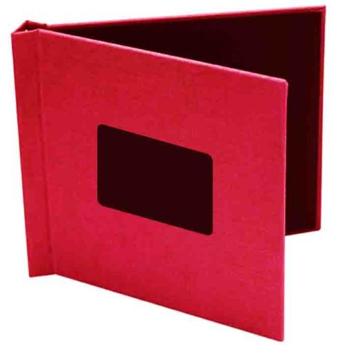 "8"" x 8"" Red Cloth Pinchbook Hard Cover Photo Books with Window (5 Pack)"