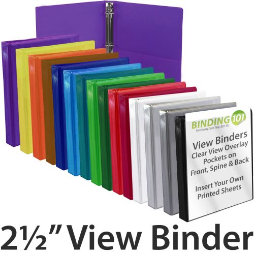 """2-1/2"""" Royal Blue Letter Size View Binder [Round Ring] (60/Bx) Image 1"""