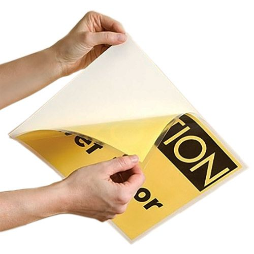 Letter Size Adhesive-Back Laminating Pouches