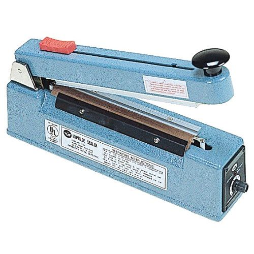 "AIE 200C 8"" Impulse Hand Sealer w/ Cutter [2 mm Seal]"