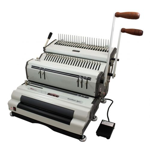 Akiles DuoMac C41ECI Plastic Comb & 4:1 Coil Binding Machine with Electric Inserter