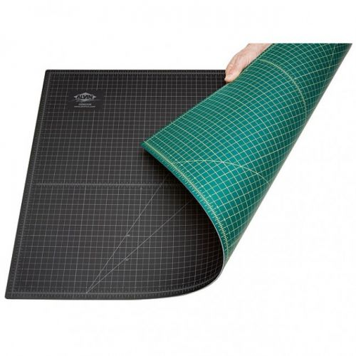 """8 ½"""" x 11"""" Green / Black Self-Healing Cutting Mat [with 3-Holes] (Discontinued)"""