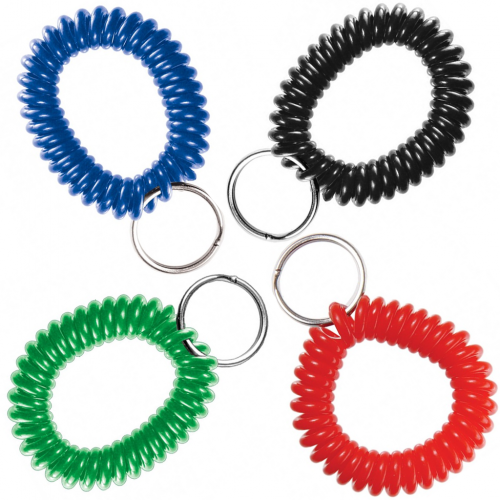 Wrist Coils with Split Ring (Stocked Colors)